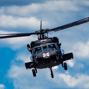 Medevac by Andrew Brinkman - Transportation Helicopters ( army, helicopter, blackhawk, flight for life, medevac )