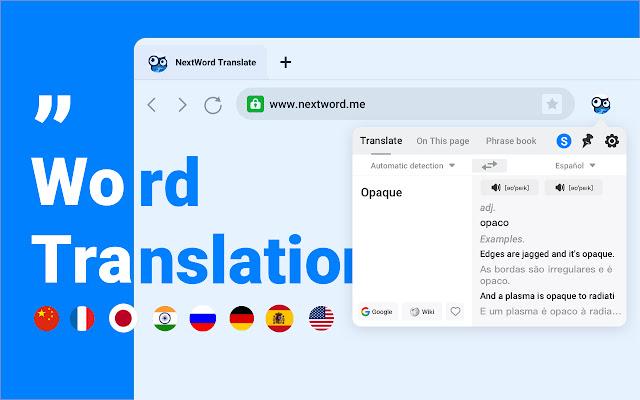 NextWord Translate