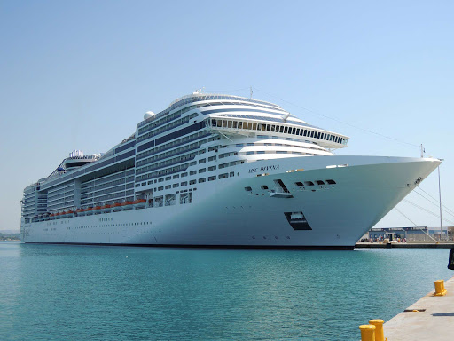 MSC-Divina-in-Greece - MSC Divina cruise itineraries include the Mediterranean and Ionian seas.
