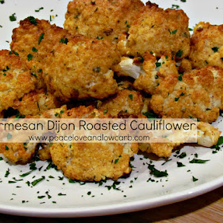 Parmesan Dijon Roasted Cauliflower