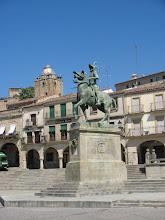 Photo: Pizarro in Trujillo Square