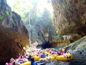 Photo: Cave tubing at Caves Branch!