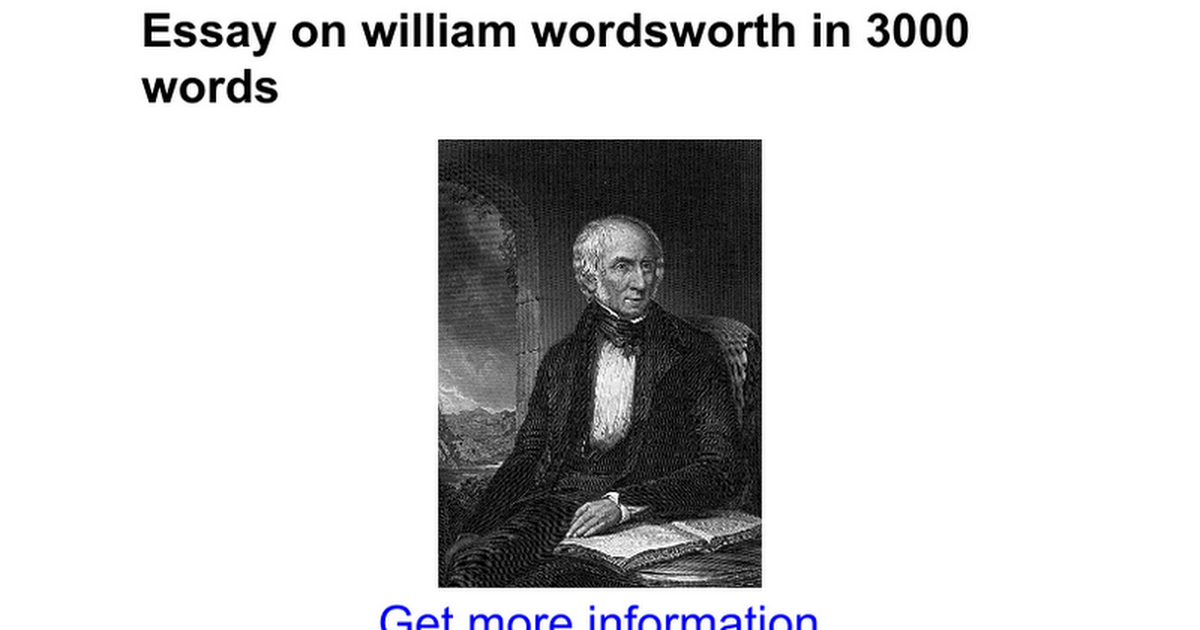 essay on william wordsworth in words google docs