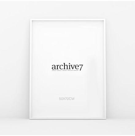 WHITE PICTURE FRAME PLEXIGLASS, 50X70 CM