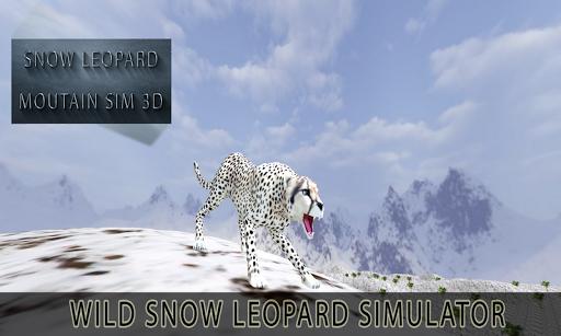 Snow Leopard Mountain Sim 3D