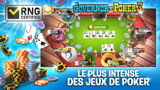Governor of Poker 3: Tournoi Texas Holdem En Ligne fond d'écran 2