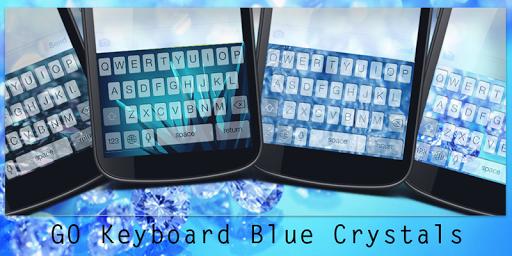 GO Keyboard Blue Crystals