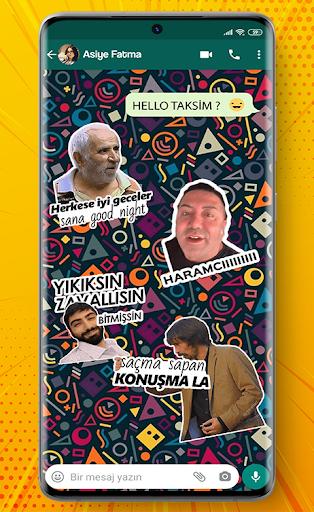 Türkçe Sticker ve Mizahi Sticker for WhatsApp screenshot 4