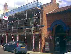 Photo: The Admiral Rodney hotel having it's roof seen to.