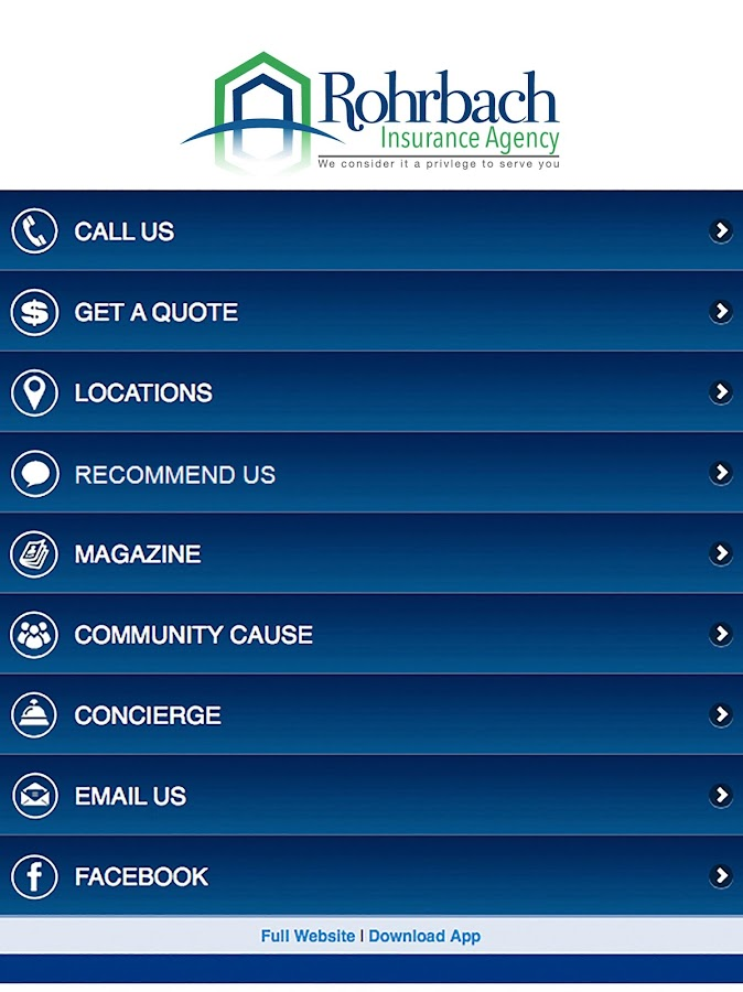 Rohrbach Insurance Agency- screenshot