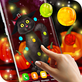 Halloween Cat Live Wallpaper