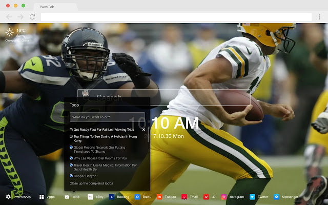 Green Bay Packers Popular HD New Tab Theme