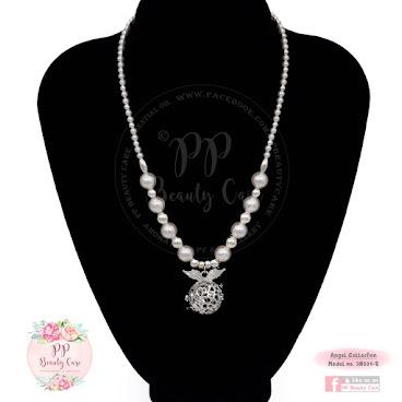 3N001-S_Angel Collection 天使系列:Swarovski 珍珠925純銀珠精油項鏈