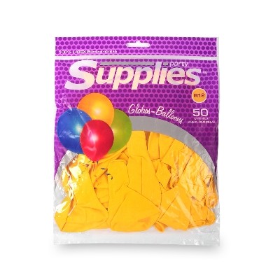 globos estandar supplies amarillos x50