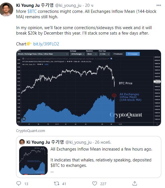 сообщение Ки Ян Джу в Twitter