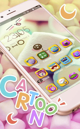 Cute Marshmallow cartoon Theme for android free 3.9.9 screenshots 3