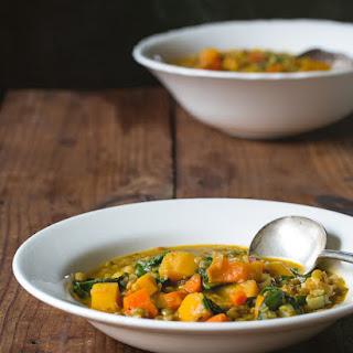 Lentil and Butternut Squash Soup.