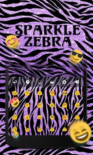玩免費個人化APP|下載Sparkle Zebra GO KeyboardTheme app不用錢|硬是要APP