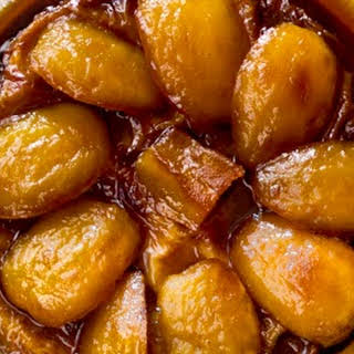 Toffee Apple Tart Tartin with Vanilla Filo Crust.
