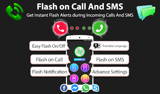 App Flash alert on call and sms 2019: Call flash APK for Windows Phone
