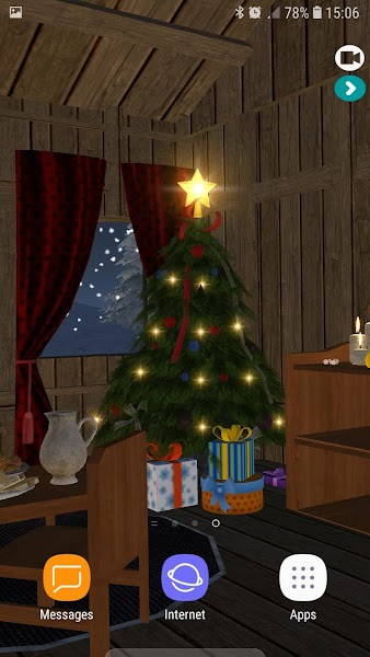 Interactive Christmas 3D HD Live Wallpaper Screenshot Image