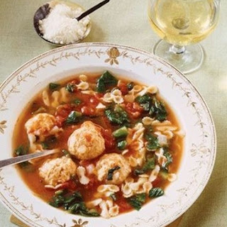 Weight Watchers Tuxedo Meatball Soup with Escarole