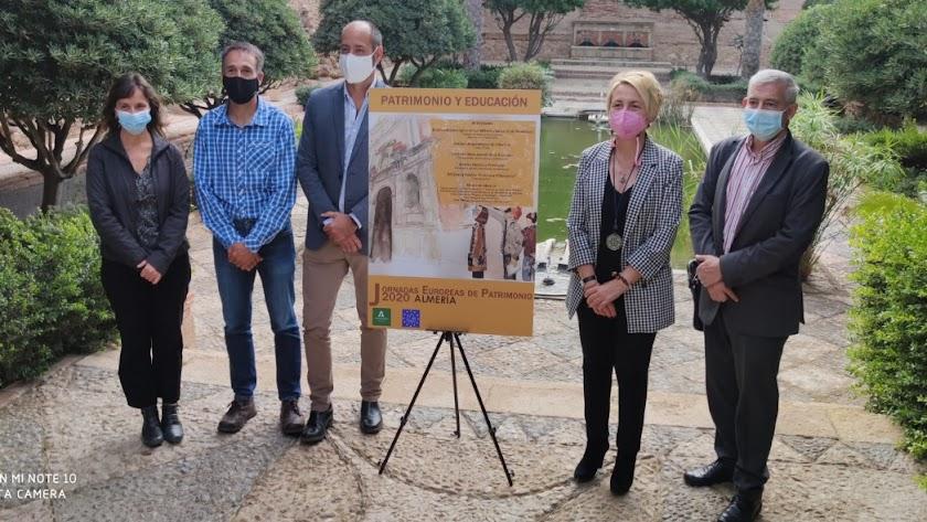 Presentación de las Jornadas Europeas de Patrimonio, con Eloísa Cabrera y Gema Embí Nájar.