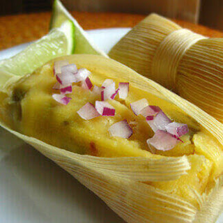 Roasted Chili and Corn Tamales.