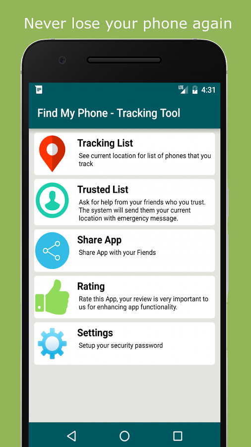 Find My Phone - ( Offline ) tracking tool via SMS- screenshot