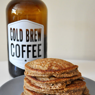 Cold Brew Banana Oat Pancakes | dairy + gluten free!.