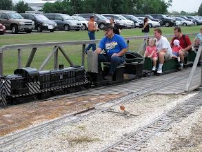 Photo: Ron Pasley on Gil Freitag's loco   HALS 2009-0919