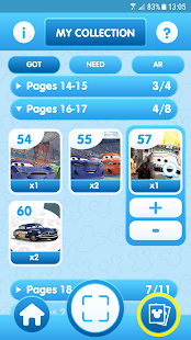 Panini Stickers Disney Friends Screenshot