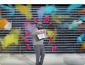 Still of OKGo music video.