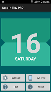 Date In Tray / Status Bar - screenshot thumbnail