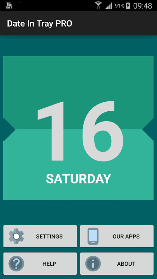 Date In Tray / Status Bar - screenshot
