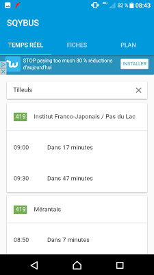 SQYBUS Horaires - screenshot