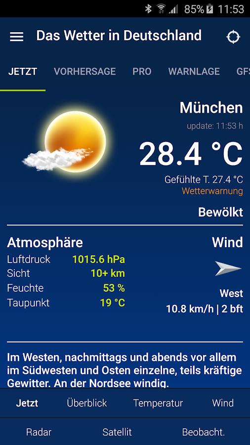 Das Wetter in Deutschland- screenshot