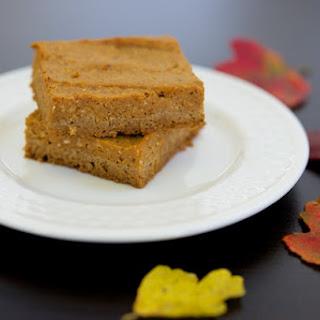 Pumpkin Pie Bars with Gingerbread Crust