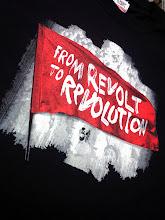 Photo: T shirt personnalisé NPA REVOLUTION Sérigraphie Trame