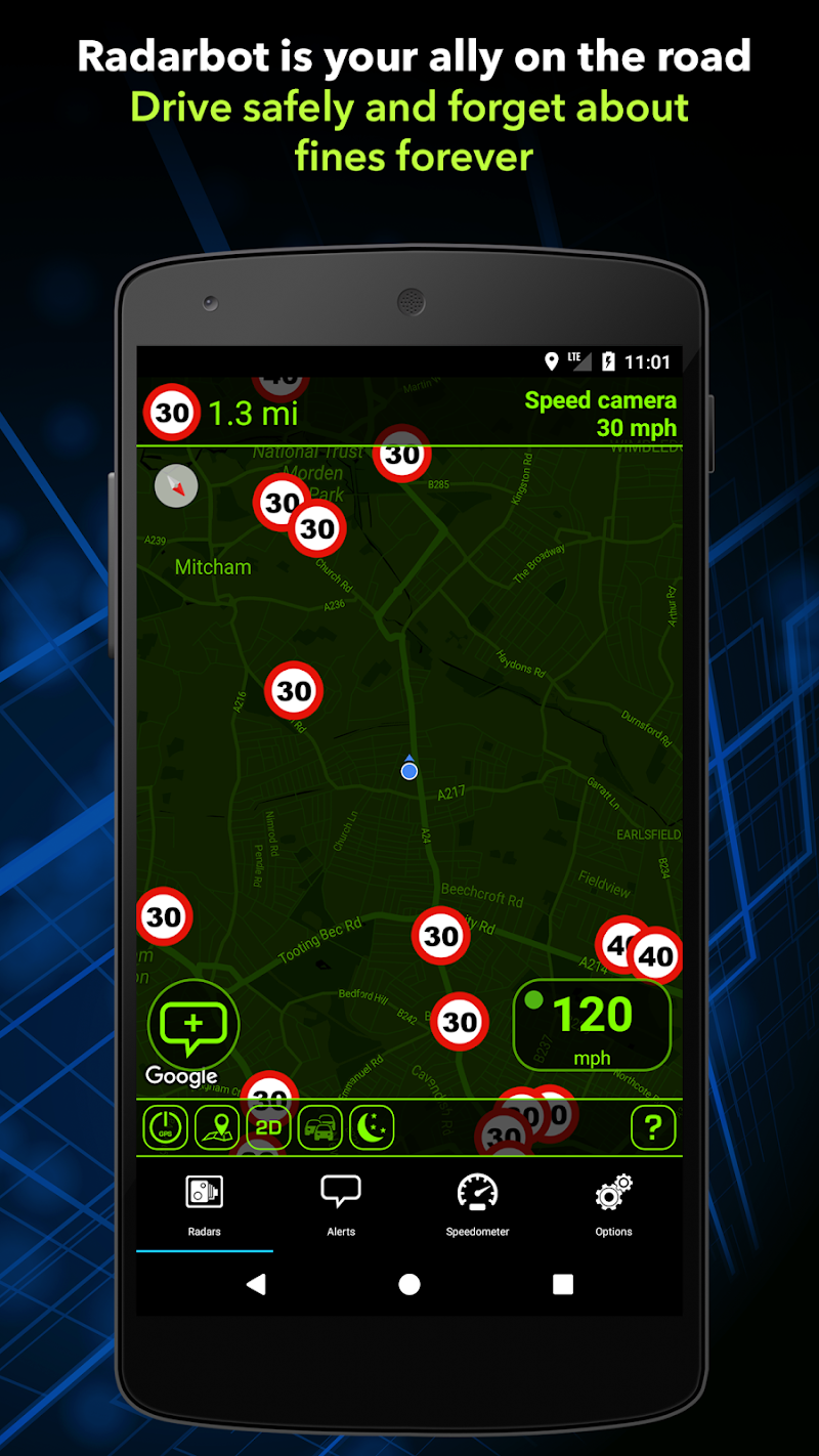 Radarbot Pro: Speed Camera Detector & Speedometer Screenshot 2