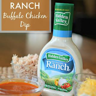 Three Cheese Ranch Buffalo Chicken Dip.