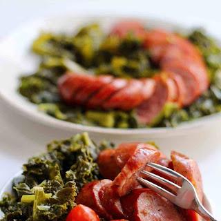 Instant Pot Low Carb Sausage and Kale.