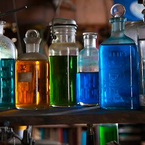 Chem Lab by Lee McLaughlin - Artistic Objects Glass ( test tubes, chemistry, glass, laboratory, bottle, lab, antique, apothocary, science )