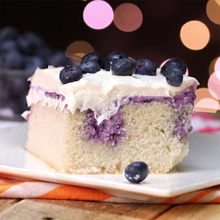 Blueberry Cheesecake Poke Cake Is a Dessert Lover's Dream.