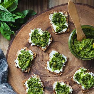 Green Goddess Pesto & Goat Cheese Bites.