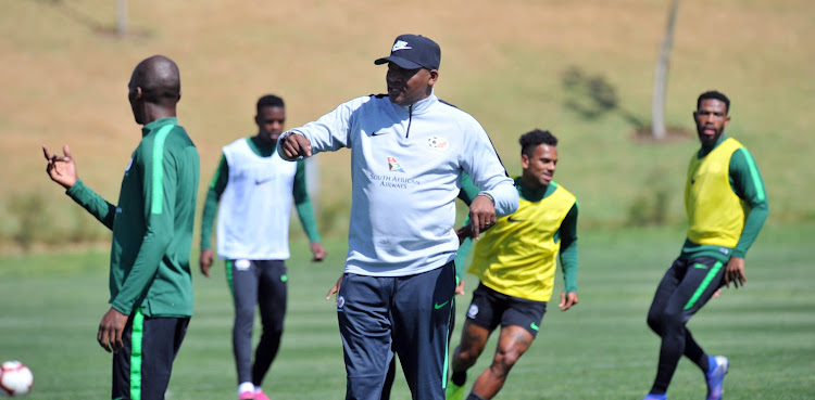 Molefi Ntseki coach of South Africa during the South Africa Training on the 03 September 2019 at Steyn City , Johannesburg.