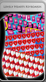 Lovely Hearts Keyboards - náhled