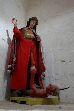 """Photo: Escultura. El diablo aplastado por """""""" Madrigal, Caylloma - Arequipa"""