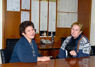 Photo: Dr. Renate Wagner bei Interview mit KS.Soile Isokoski (November 2014). Foto: Barbara Zeininger