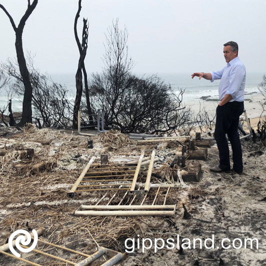 Local MP Darren Chester said the Federal Government is backing away from a plan which would have short-changed bushfire impacted communities in East Gippsland